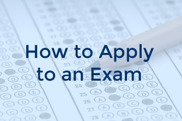 Applying to an exam